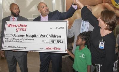Winn-Dixie and Ochsner Hospital for Children celebrate donationB