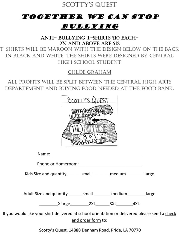 order form FOR SCOTTY'S QUESTb